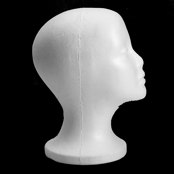 Female Styrofoam Foam Mannequin Head Model Wig Hair Glasses Hat Stand Display