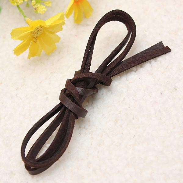 1Pc 4mm Flat Ribbon PU Leather Cord DIY Bracelet Jewelry