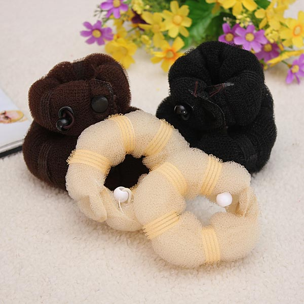 2 Pcs Hot Buns Fashion Elegant Hair Magic Style Bun Maker 3 Colors