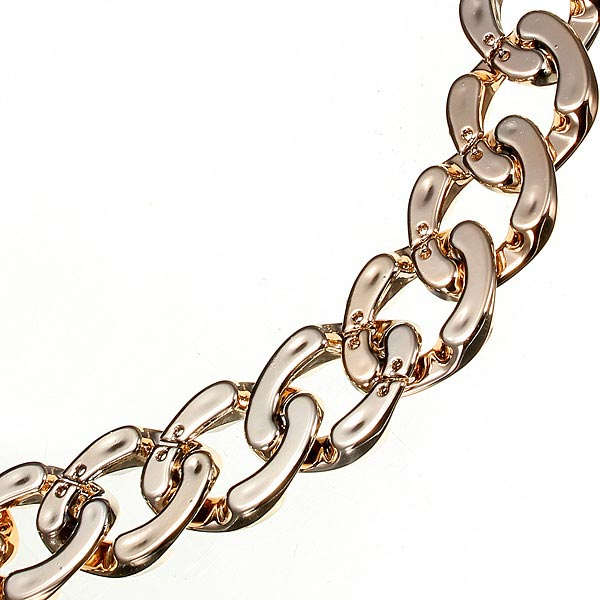 Punk Gold Plated Long Chain Chunky Statement Necklace Jewelry