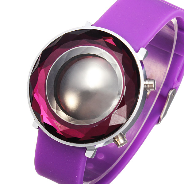 Rubber LED Three-dimensional Jelly Fashion Women Wrist Watch