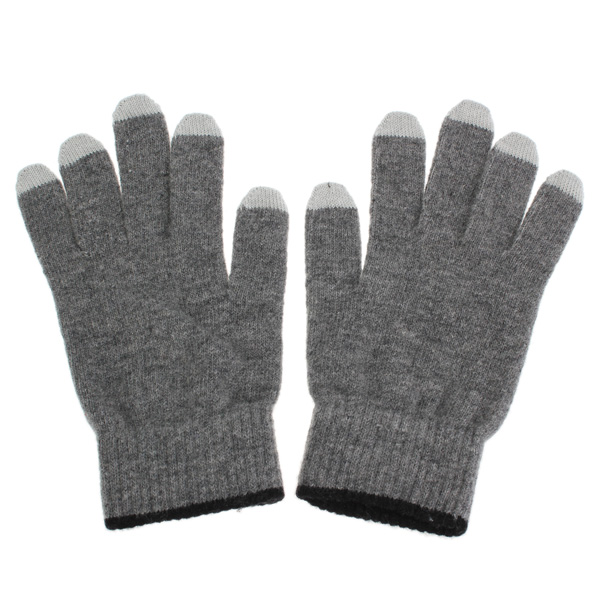 Wool Fibers Capacitive Touch Screen Warmer Gloves For iPhone Tablet