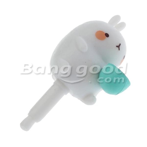 Potato Rabbit Blue Cup Headset Jack Dust Plug Earphone Jack Plug