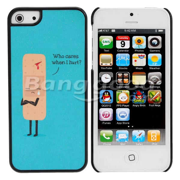 Cute Sad Cartoon Wound Plastic Hard Cover Case Skin For iPhone 5