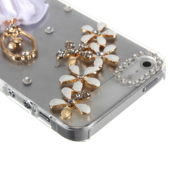 Sparkle Ballet Girl Flower Bling Crystal Diamond Case For iPhone 5 5G