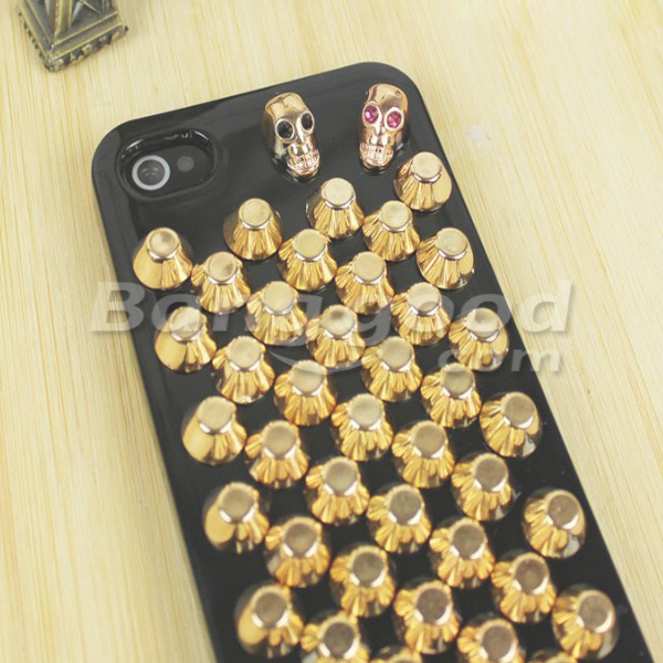 Street Punk Style Skull Head Bucket Pattern Cover Case For iPhone 4 4S