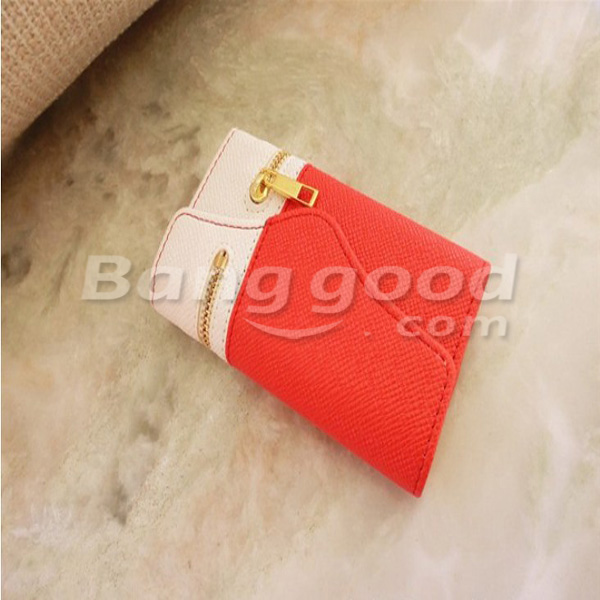 Multicolor Zipper Wallet PU Cover Case For iPhone 5 Random Shipment