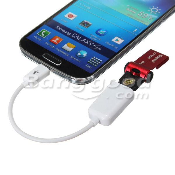USB Micro OTG Adapter Cable For Cell Phones With Micro Port