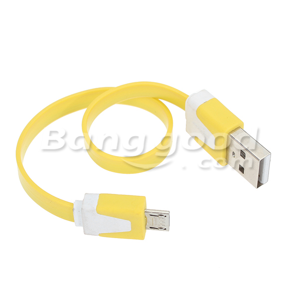 Small Noodle Short USB Data Cable Charging Cable For Mobile Phones