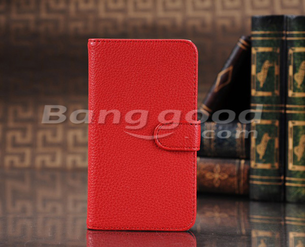 Fish Scale Grain Wallet Style Stand Leather Case For Google Nexus 4