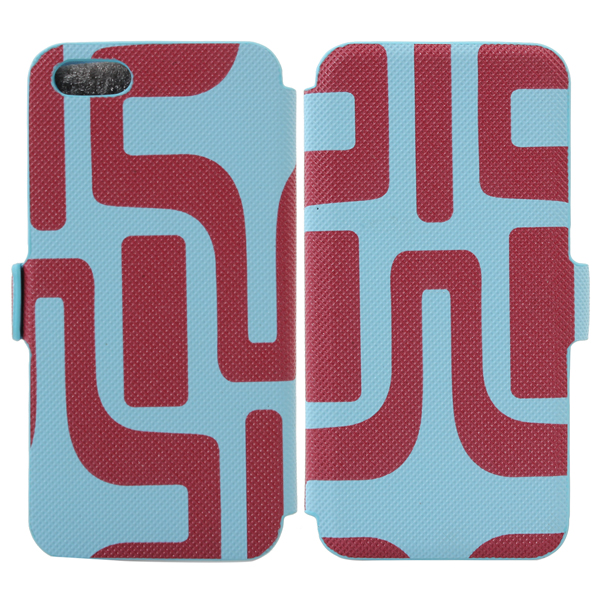 Labyrinth Pattern Credit Card Wallet Leather Case For iPhone 5 5S 5C