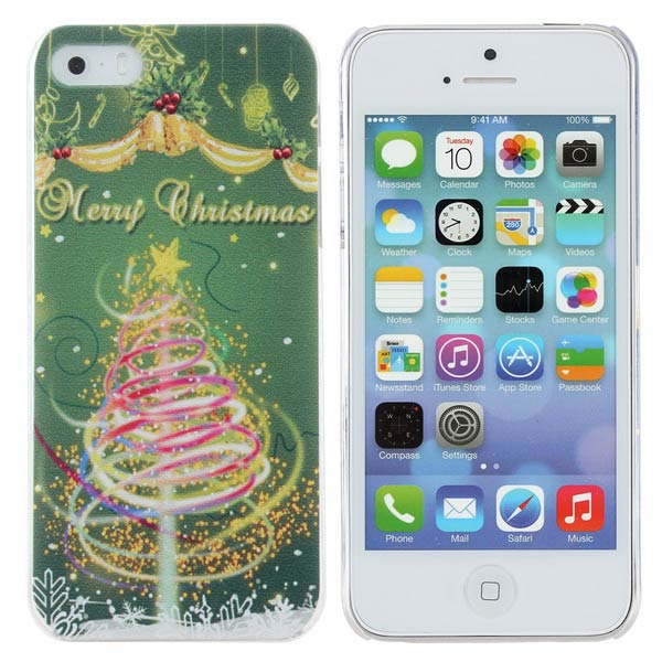 Christmas Tree Design PC Hard Case Cover For iPhone 5 5