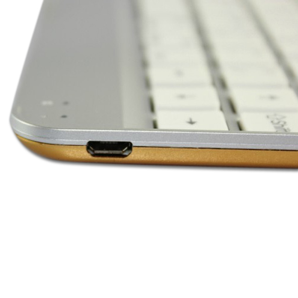 Wireless Bluetooth Aluminum Golden Keyboard Cover For iPad Air