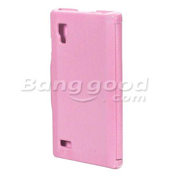 Flip PU Leather Magnetic Lock Hard Case For LG Optimus L9 P760