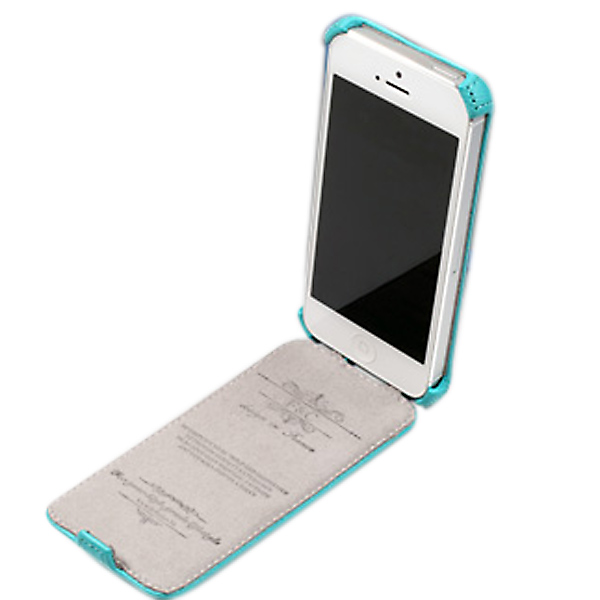 PU Leather Luxury Design Protector Hard Case Cover For iPhone 5 5S