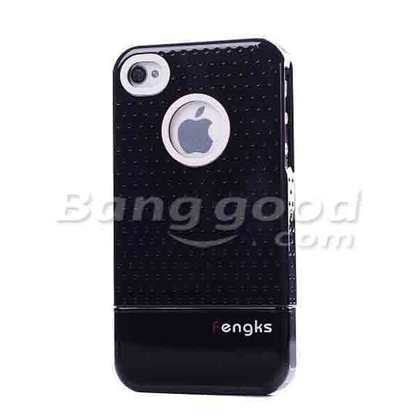 Double Color Separable PC Grid Case Back Cover For iPhone 4 4S