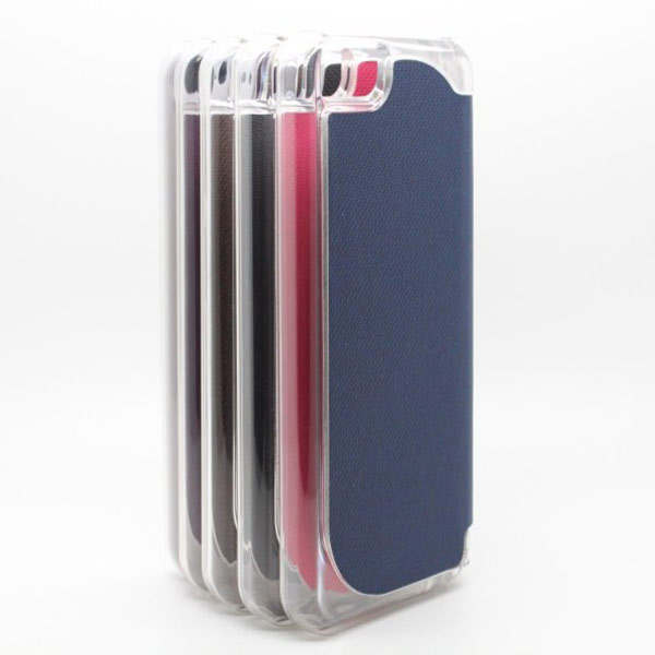 Two Sided Cloth Marks Protector PU Laether Case For iPhone 5 5S 5C