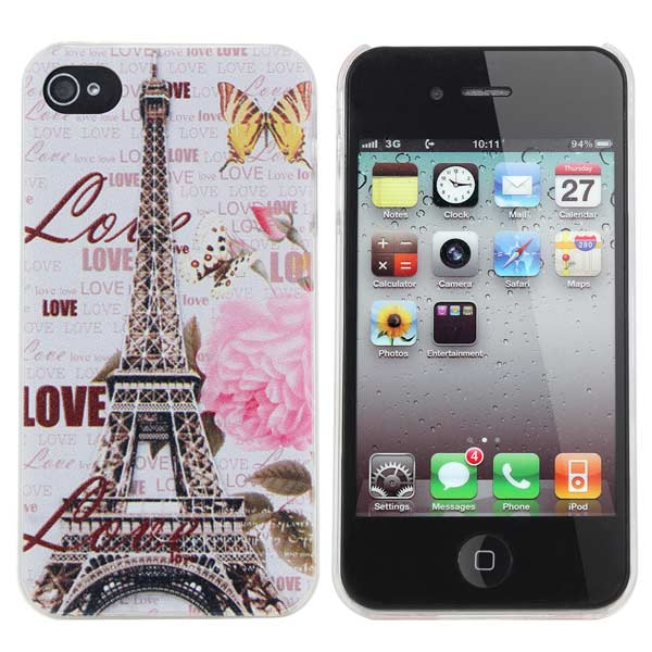 Paris Style Eiffel Tower Relief Protector Case Cover For iPhone 4 4S