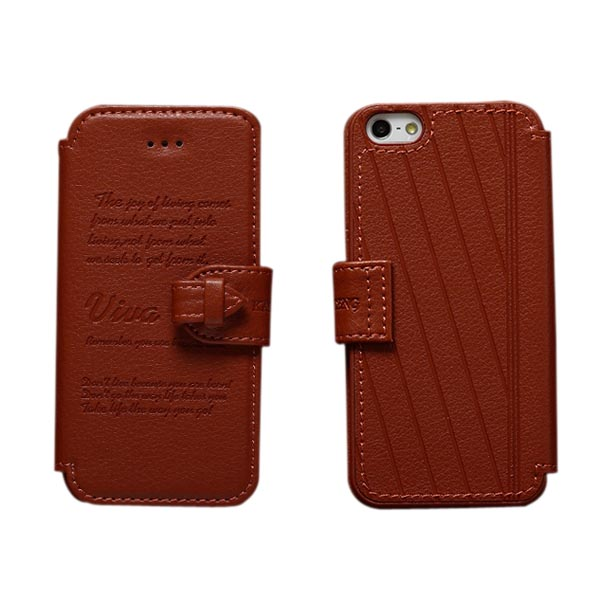 KLD Vintage Style PU Leather Holder Case Cover For iPhone 4 4S