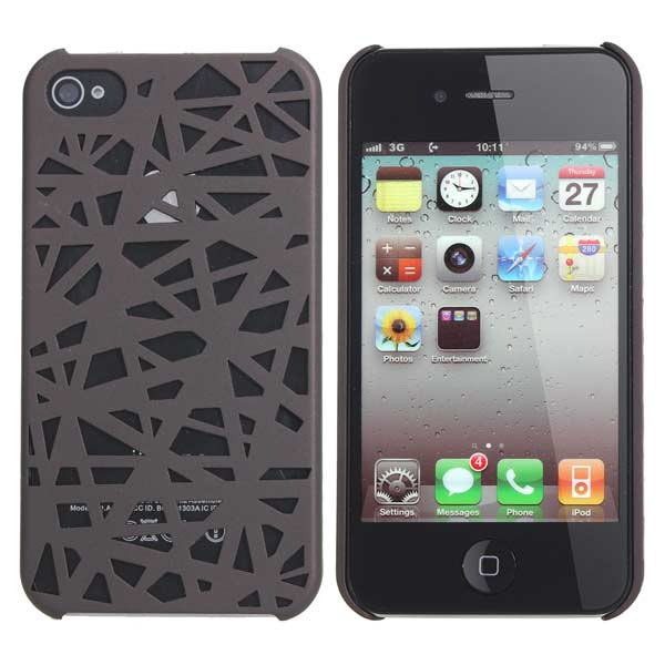 Bird Nest Pattern Plastic Protector Case Cover For iPhone 4 4S