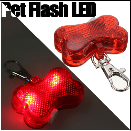 Pet Dog Cat Safety LED Flash Blink Light Tag Collar New