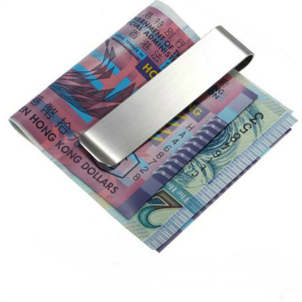 Unisex Stainless Steel Money Clip Credit Card Holder