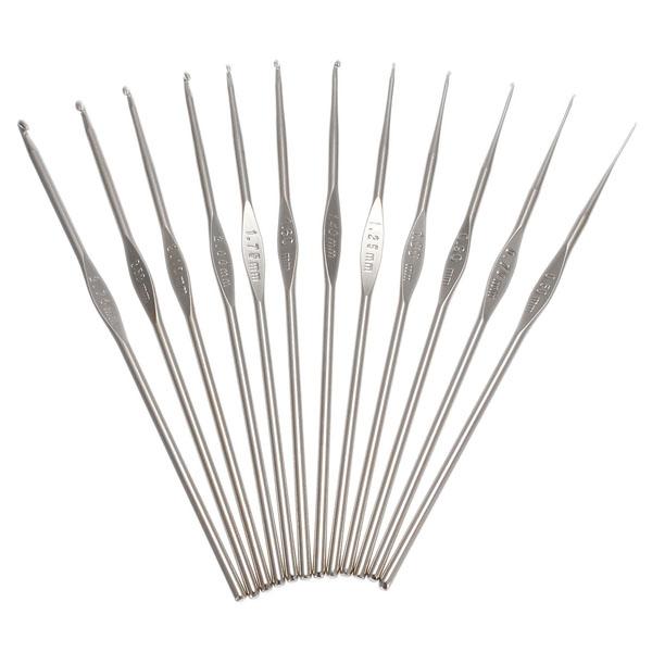 22Pcs Aluminum Crochet Knitting Needles Weave Craft Set