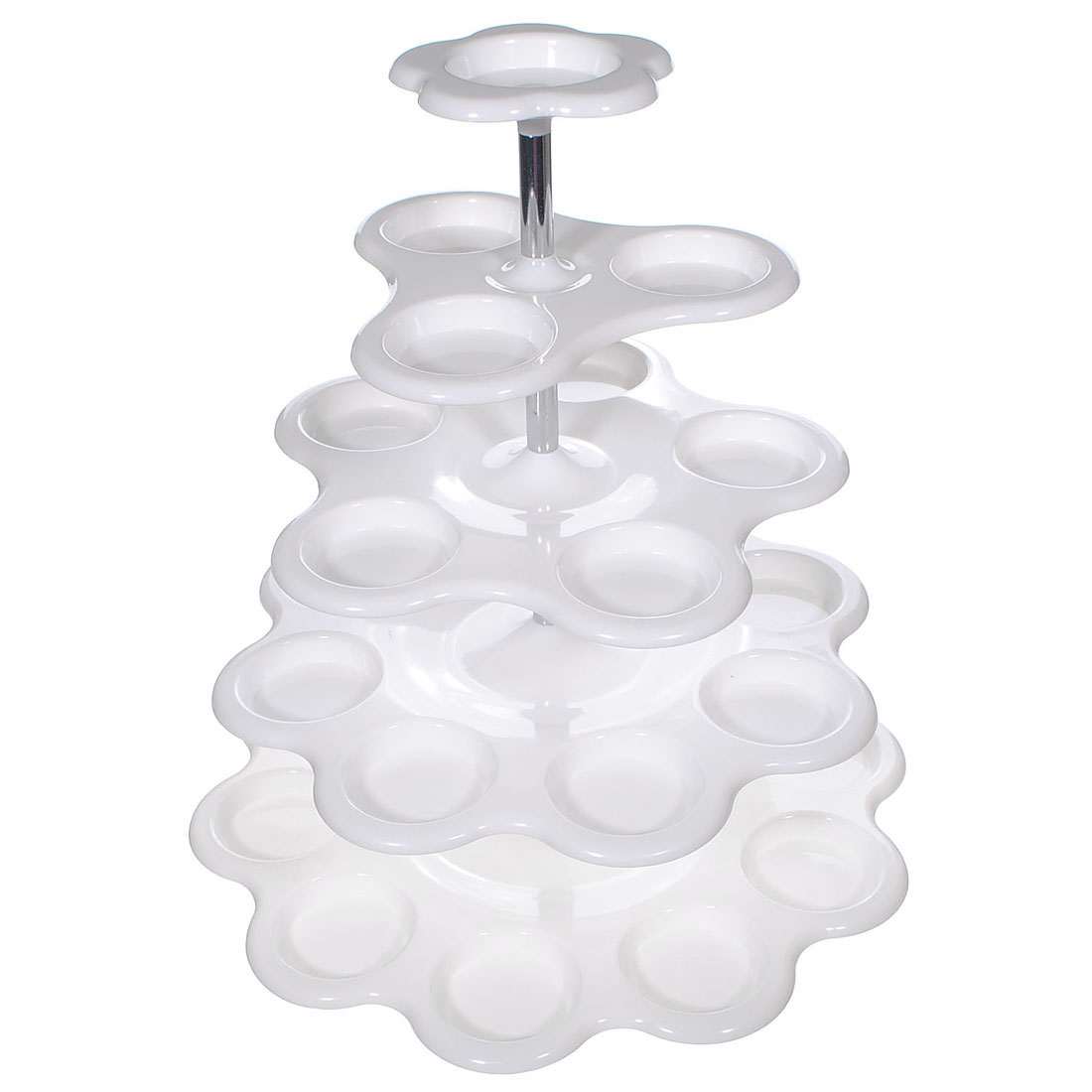 5-Tier Cup Cake Buffet Cake Stand Dispaly Holder Party Wedding