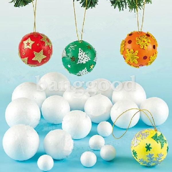 12x70mm Ball Sphere XMAS Modelling Styrofoam Foam Decoration Craft
