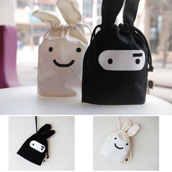 Mini Cute Ninja Rabbit Storage Bag Case Pouch 34 x 21cm
