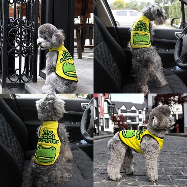 Cool Summer Pet Frog T-shirt Puppy Vest Apparel