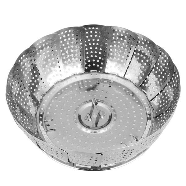 Нержавеющая сталь Складной Steaming плиты Выдвижной Пароход стойку Творческая кухня Инструменты