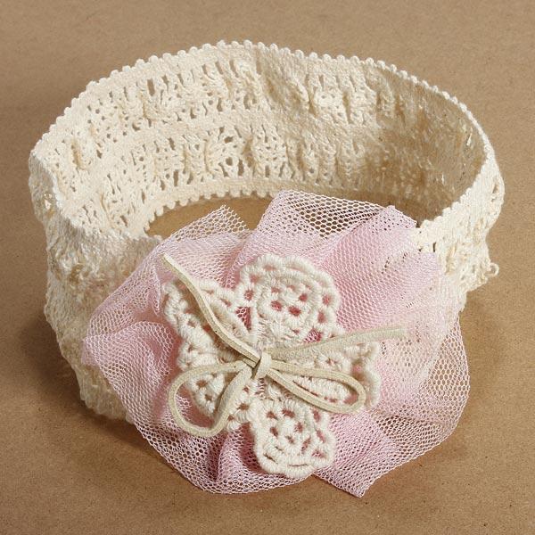 4 Colors Baby Headbrand Soft Cotton Elastic Flower Headdress