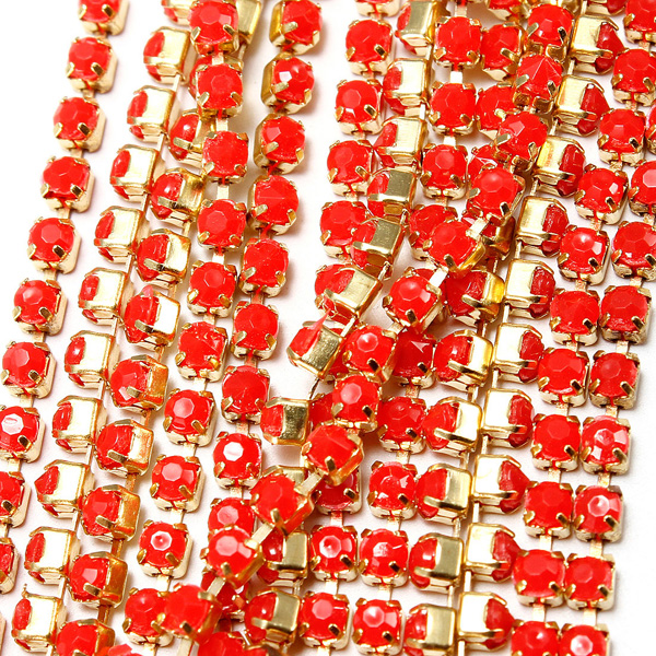 4.5M Nail Art Tips Phone Glitter Metal Chain DIY Decorations Manicure