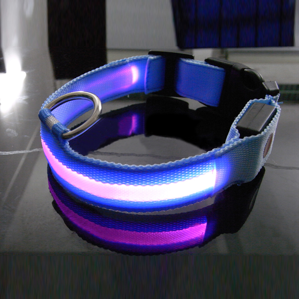 LED Pet Dog Collar Night Safety Dog Flashing Collar