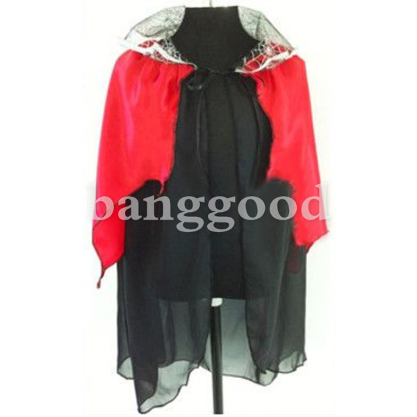 Children Halloween Costumes Witch Cloak Spider Mantle Kids Props