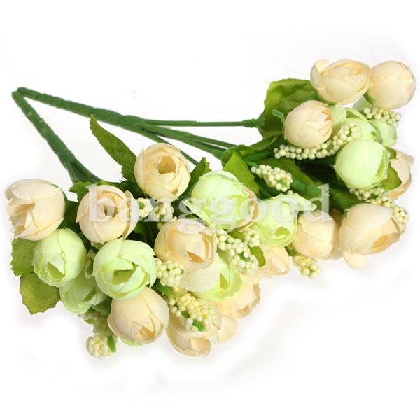 Beautiful Roses Artificial Silk Flowers Bouquet