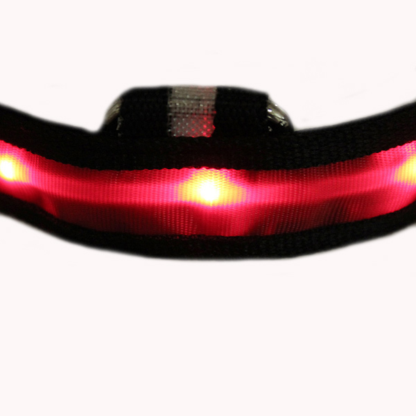 Size S Nylon Safety Flashing Glow Light LED Pet Dog Collar
