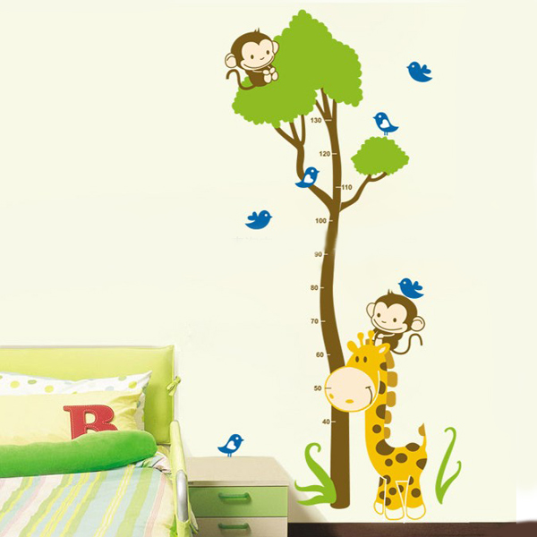 Remmovable Jungle Cartoon Child Real Height Home Wall Sticker