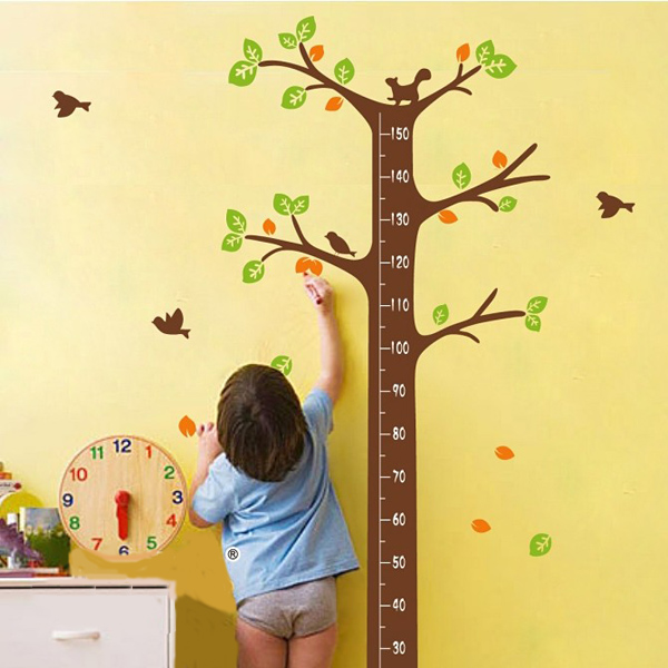 Removable Dream Tree Wall Sticker Child Height Decor Sticker