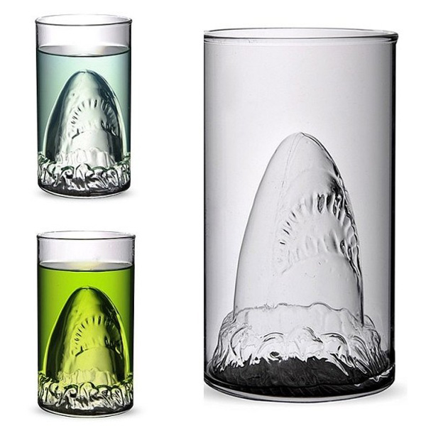 Creative Shark Glass Cup Beer Mug Champagne Red Wine Cup