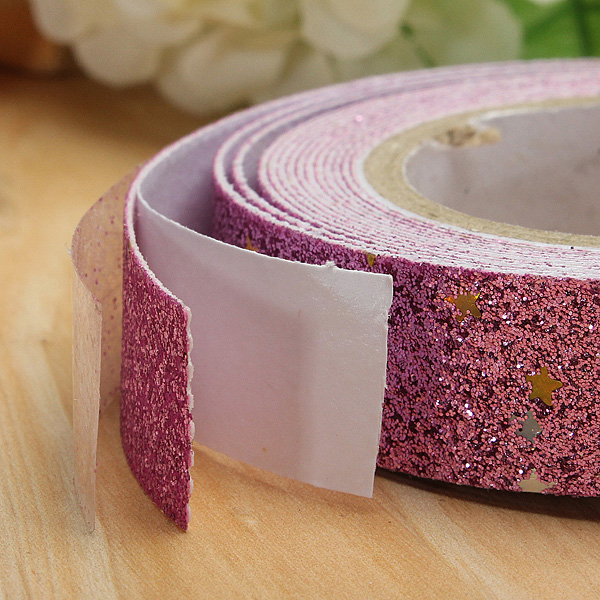 Glitter Star Washi Tape Adhesive Fabric Scrapbooking Sticker