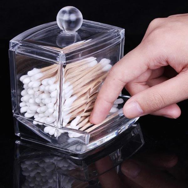 Cotton Swab Holder Cosmetic Cotton Pads Storage Box