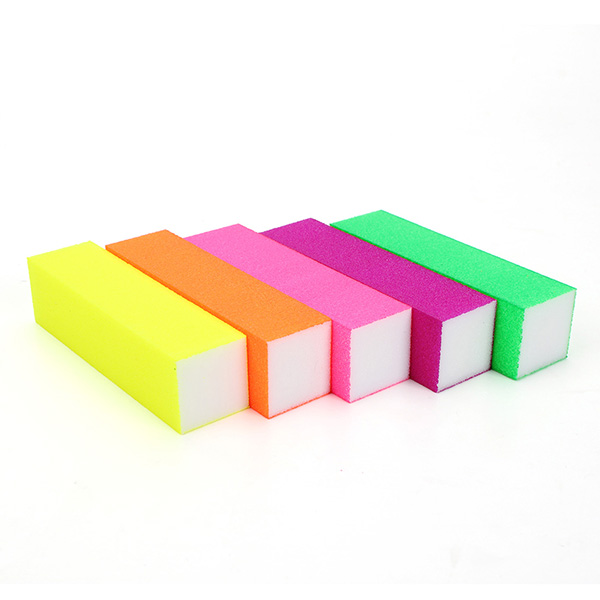 5Pcs Fluorescent Color Buffing Sanding Nail Files Block Manicure Tool