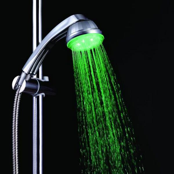 Romantic LED Light Automatic Temperature Sensor Bath Shower Head