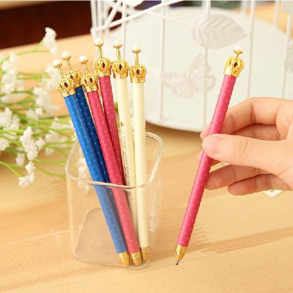 Image of 3pcs elegante Crown Kugelschreiber Personalized stilvolle Kugelschreiber