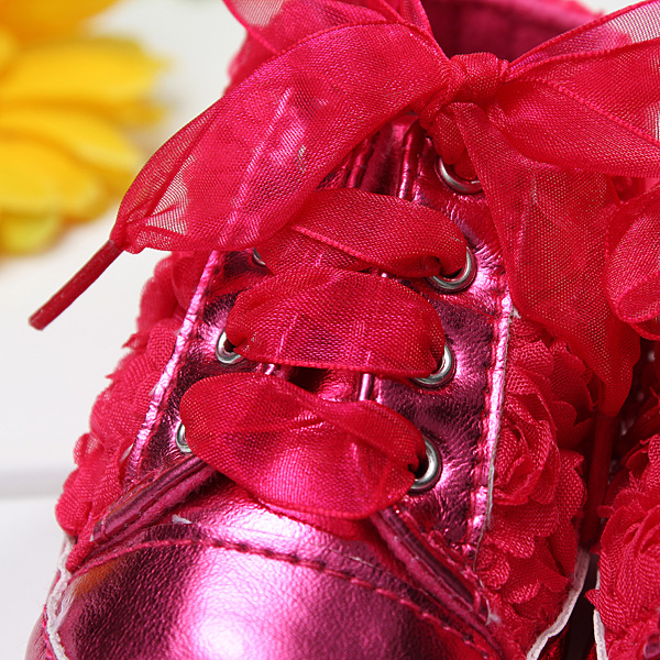 Baby Toddler Shoes Non-Slip Rose Flowers Uppers