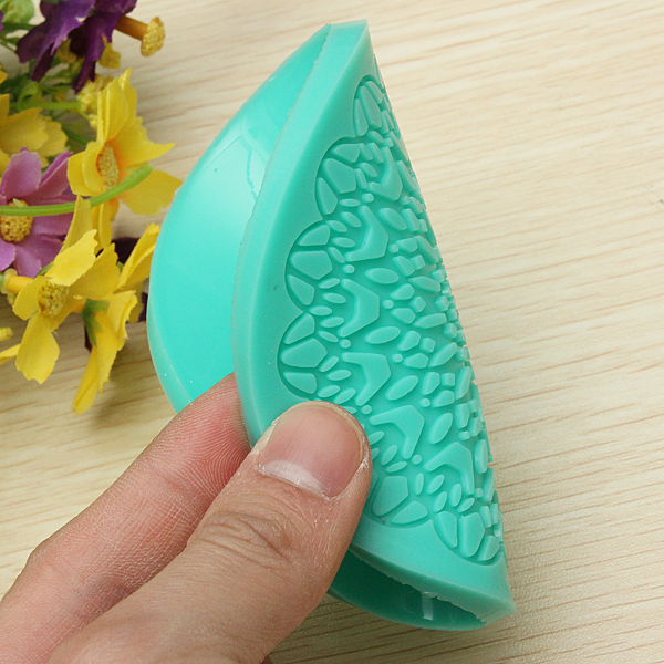 Lace Cake Embossing Silicone Mold Icing Sugarcraft Mold