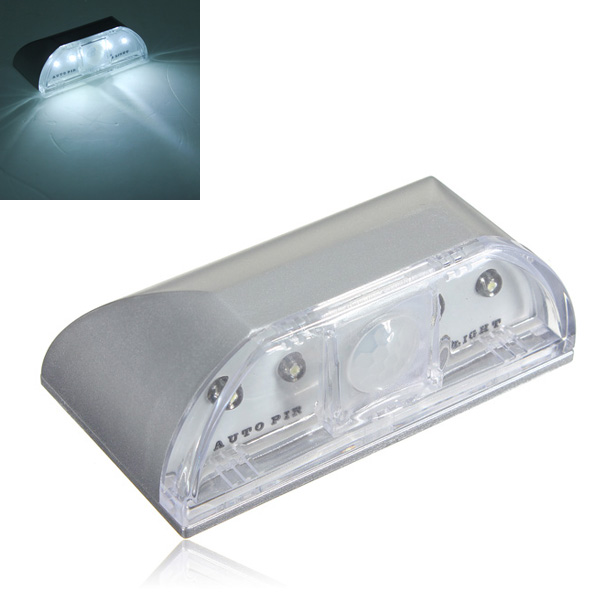 4 led ir sensor light auto pir key hole motion detection