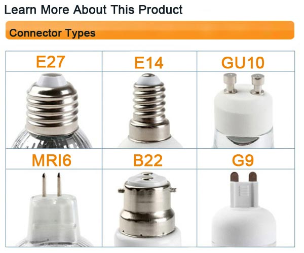 E14 3W Warm White 3 LED Energy Saving Spot Lightt Lamp Bulb 85-240V